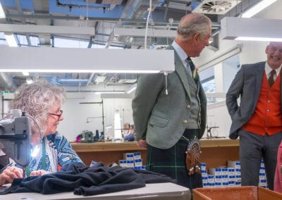 PRINCE CHARLES OPENS SCOTT & CHARTERS IN HAWICK